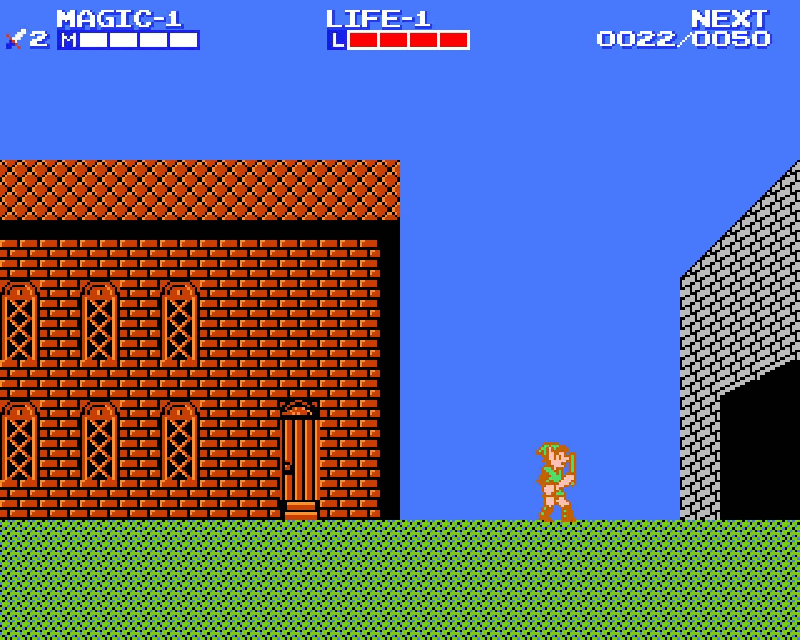 Zelda 2 town