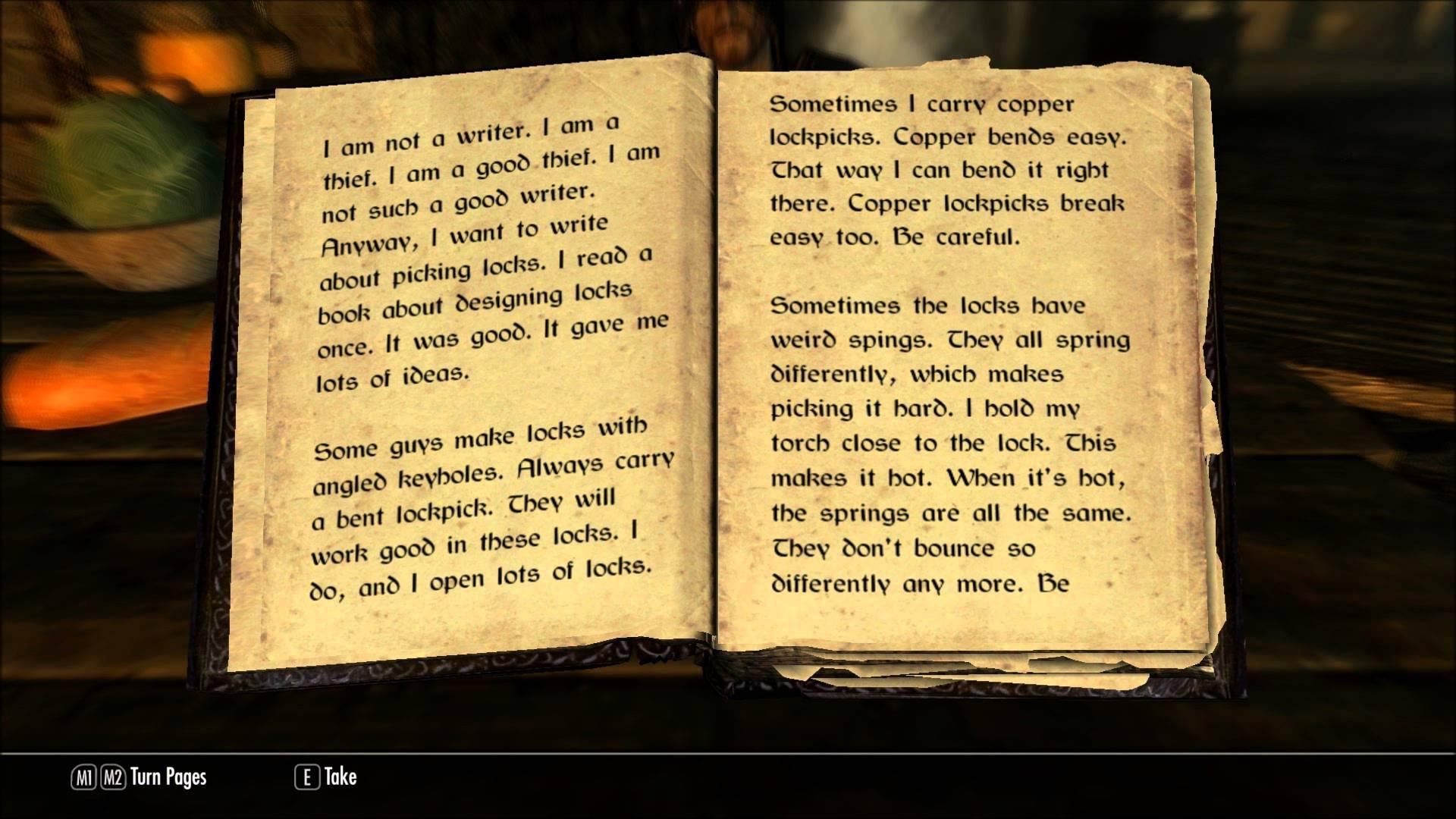 Skyrim book