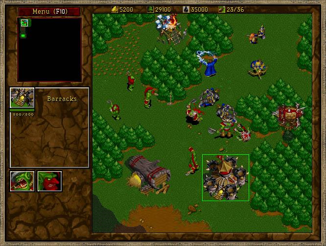 Warcraft 2 attack