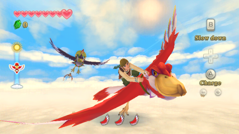 Skyward Sword flying