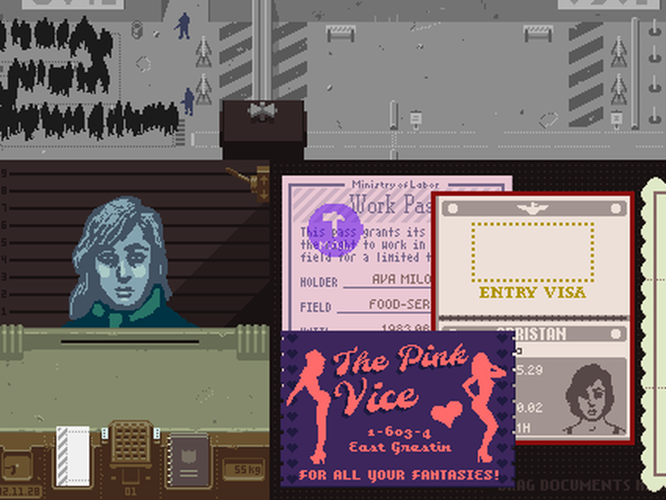 Papers Please Pink Vice