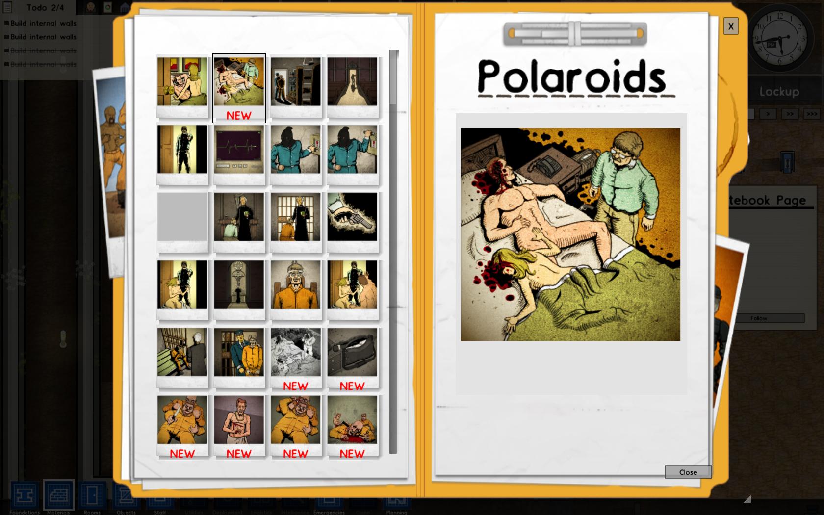 Prison Architect polaroids