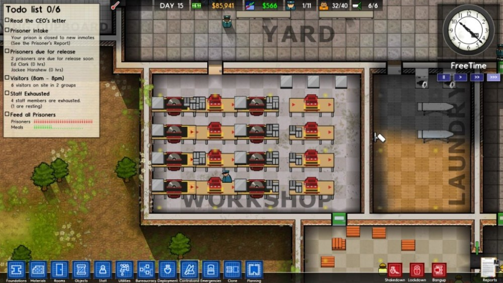 Prison Architect shop